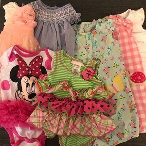 Dress, Rompers, Tutu Onesie 7 Piece Baby Bundle